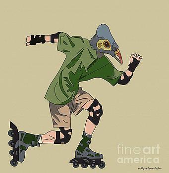 Rollerskating Bird by Megan Dirsa-DuBois
