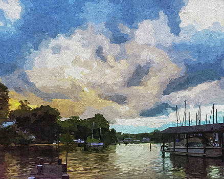 Rolling Clouds At Sunset - Paint FX by Brian Wallace