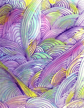 Rolling Patterns in Pastel by Wayne Potrafka