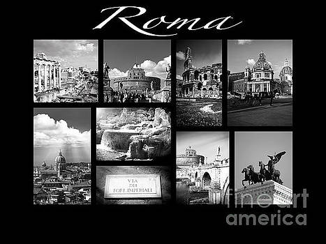 Roma Black and White Poster by Stefano Senise