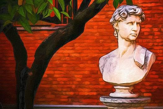 Roman bust, Loyola University Chicago by Vincent Monozlay