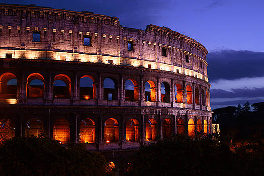 Roman Colosseum at Night by Warren Home Decor