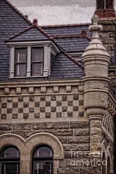 Romanesque Architectural Cornerstone by Ella Kaye Dickey