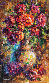 Romantic Roses by Leonid Afremov