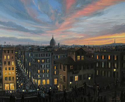 Rome in The Light of Sunset by Kiril Stanchev