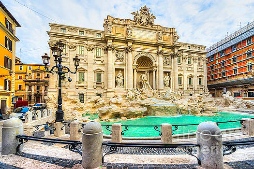 Rome - Trevi Fountain - Italy by Luciano Mortula