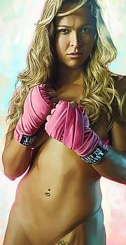 Ronda Rousey Artwork  by Sheraz A