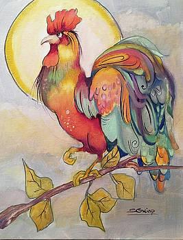 Rooster In Morning Sun by Shane Guinn