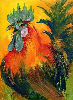 Rooster of Another Color by Summer Celeste