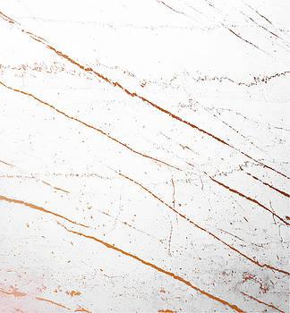 Rose Gold Marble Art by Uma Gokhale
