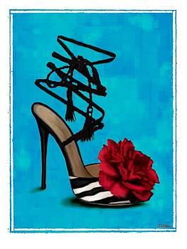 Rose Tie Up Slipper by Jann Paxton