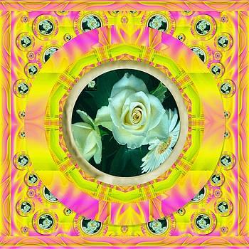 Roses in rainbows make us happy by Pepita Selles