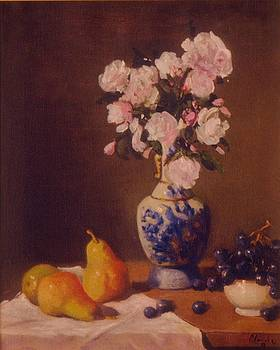 Roses with Pears and Grapes by David Olander