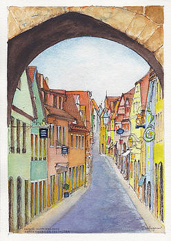 Rothenburg ob der Tauber Germany by Dai Wynn