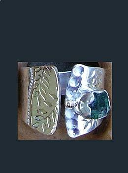 Rough Emerald Ring by Dyan  Johnson