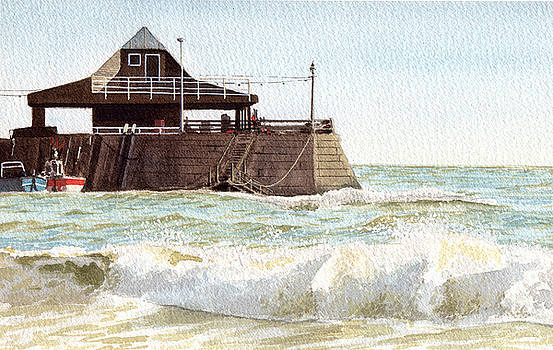 Rough Sea Broadstairs by Martin Howard