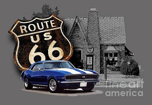 Route 66 Camaro at the Station by Paul Kuras