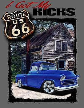 Route 66 Chevy by Paul Kuras