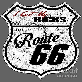 Route 66 Road Sign by Paul Kuras