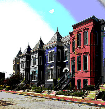 Row Houses Washington DC by Charles Shoup