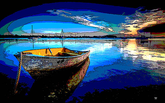 Rowboat At Sunset by Charles Shoup