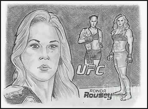 Rowdy Ronda Rousey by Chris DelVecchio