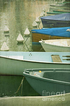 rowing boats on Annecy canal by Isabel Poulin