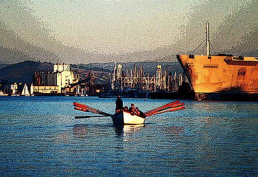 Rowing on the Estuary by Christina Knapp