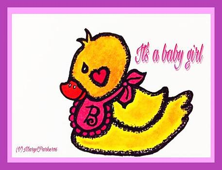 Rubber Ducky Baby Card by MaryLee Parker