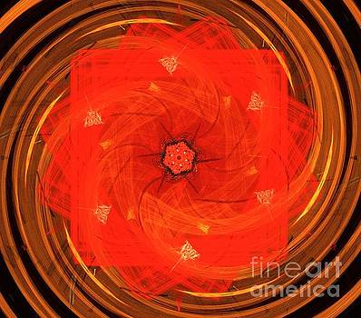 Ruby Spiral Petals by Kim Sy Ok