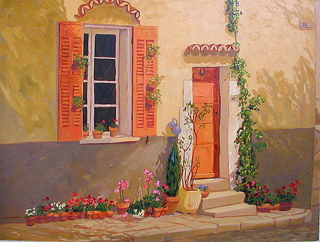 Rue tranquille by Liliane Fournier