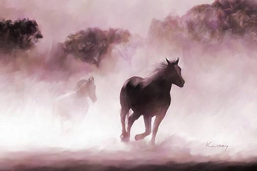 Running Horse by Johanne Dauphinais