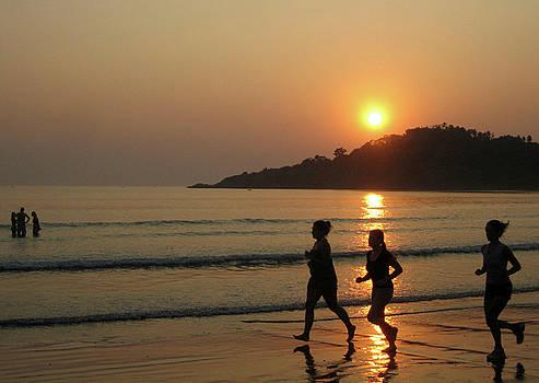Running on the Beach by Umesh U V