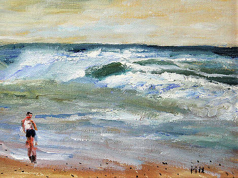 Running the Beach by Michael Helfen
