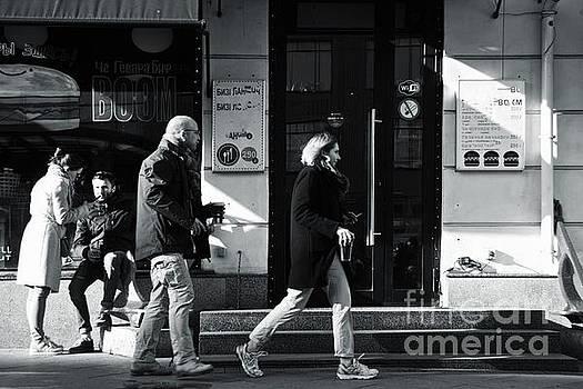 Running with beer by Magomed Magomedagaev