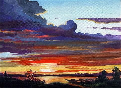 Rural Sunset by Samiran Sarkar