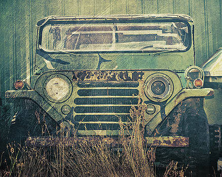 Rusted Army Jeep by Emily Kay