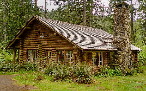 Rustic Cabin by Jerry Cahill