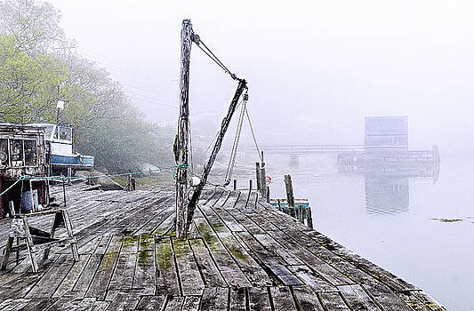 Rustic Fishing Dock  by Marty Saccone