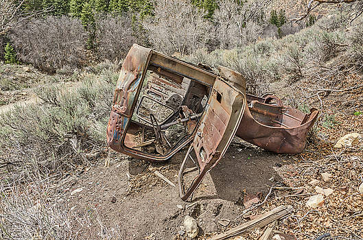 Rusty Abandoned Vehicle by Sue Smith