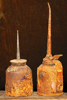 Rusty Oilcans by Phyllis Denton