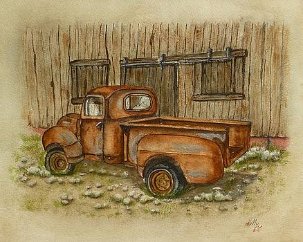 Rusty Old Ford Pickup Truck by Kelly Mills
