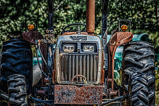 Rusty Old Tractor by Black Brook Photography