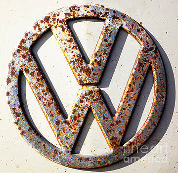 Rusty VW Sign by Tina Hailey