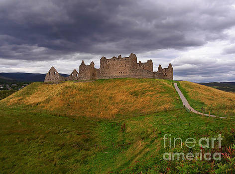 Ruthven Barracks in Kingussie Scotland by Louise Heusinkveld