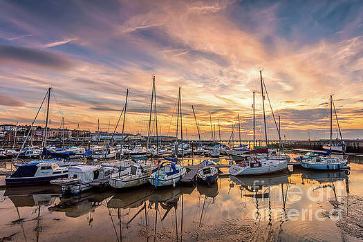 Ryde Harbour Sunset Isle Of Wight by English Landscapes