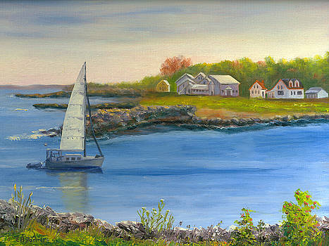 Rye Harbor, New Hampshire by Elaine Farmer