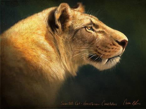 Sabertooth- Homotherium Crenatidens by Aaron Blaise