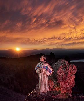 Sacagawea Sunset by Christian Heeb