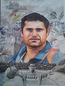 Sachin Tendulkar by Sandeep Kumar Sahota